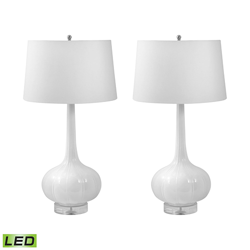 Del Mar White LED Table Lamp (Set of Two)