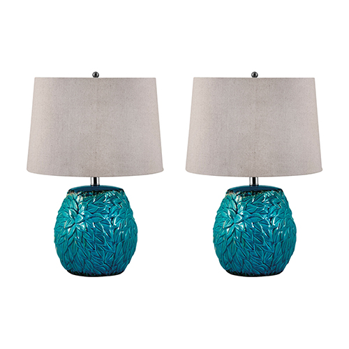 Dimond Terra Cotta Aqua One Light Table Lamp Set Of Two 275 S2
