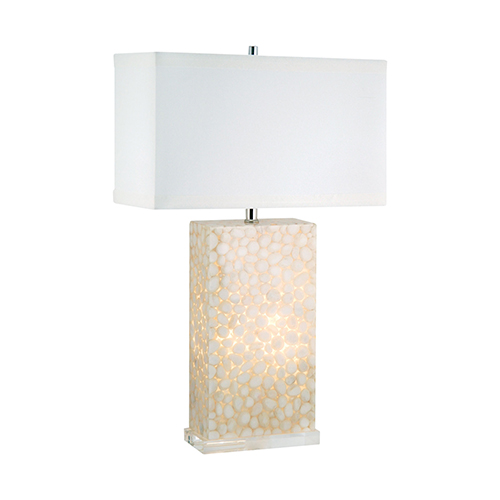 Dimond River Rock Cream One-Light Table Lamp