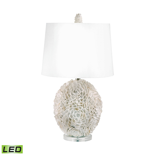 Dimond Shell Natural LED Table Lamp