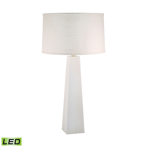 Grand Pyramid White Wash LED Table Lamp
