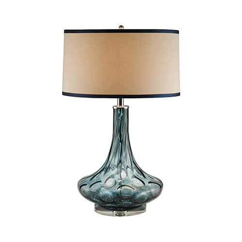 Blue One-Light Table Lamp