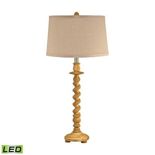 Washed Wood LED Table Lamp