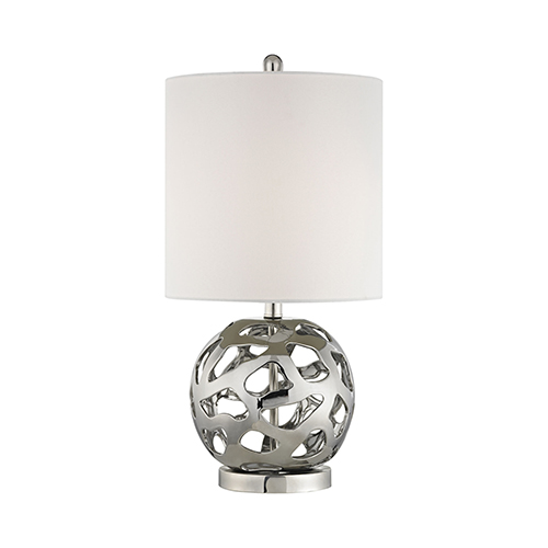 Dimond Genesis Chrome and Polished Nickel One-Light Table Lamp
