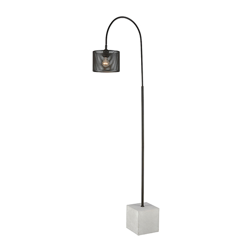 Scotland Yard Polished Concrete and Oil Rubbed Bronze One-Light Floor Lamp