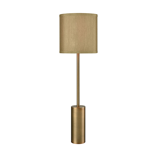 Goldfellow Weathered Antique Brass One-Light Table Lamp