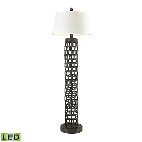 Rook Bronze LED Floor Lamp