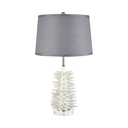Barb Matte White One-Light Table Lamp