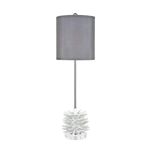 Barb Matte White One-Light Buffet Lamp