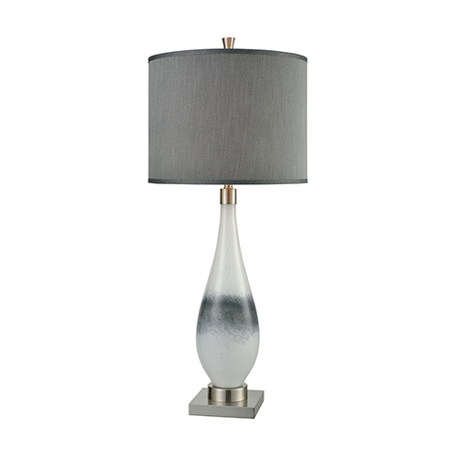 Vapor Brushed Nickel One Light Table Lamp