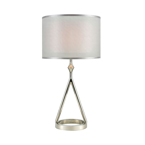 Queens Speech Polished Nickel 27-Inch One-Light Table Lamp