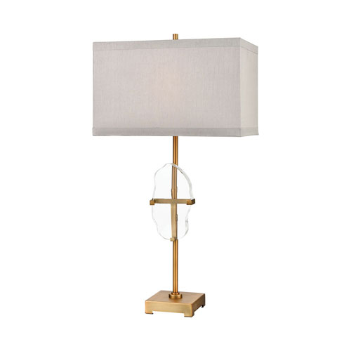 Priorato Cafe Bronze and Clear Crystal 34-Inch One-Light Table Lamp