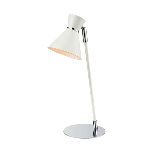 Snow Angel White and Chrome 16-Inch One-Light Table Lamp