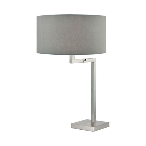 Protocol Satin Nickel 24-Inch One-Light Table Lamp