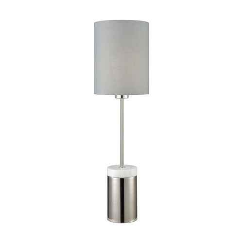 Grand Prix Polished Nickel 25-Inch One-Light Table Lamp