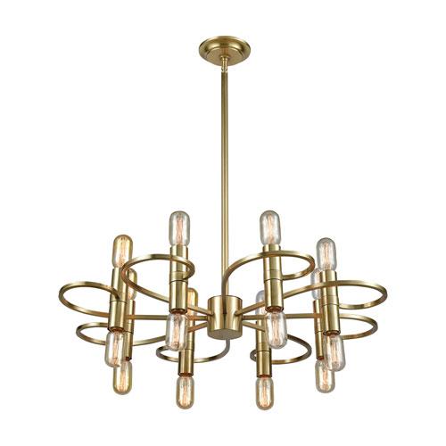 Splendor New Aged Brass 16-Light Chandelier