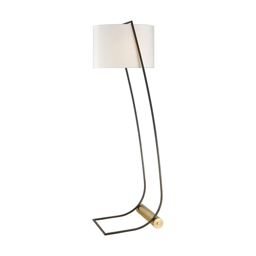 Electric Slide New Aged Brass and Oil Rubbed Bronze 60-Inch One-Light Floor Lamp