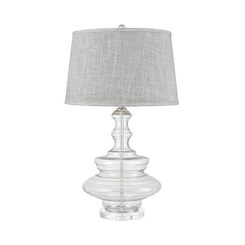 Upwell Current Glass 29-Inch One-Light Table Lamp