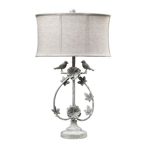 Saint Louis Heights Antique White One Light Table Lamp