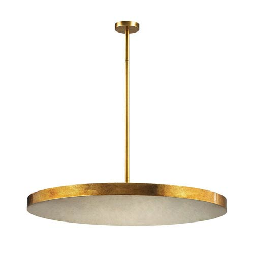 Laigne Gold Leaf Four-Light Pendant