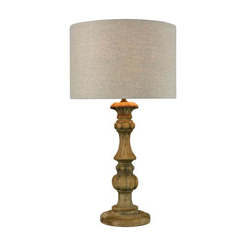 Haute-Vienne Natural Stain LED Table Lamp