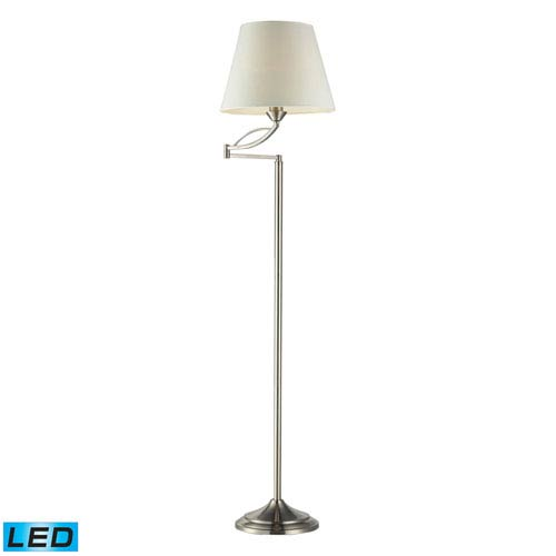 Dimond Elysburg Satin Nickel One Light LED Floor Lamp