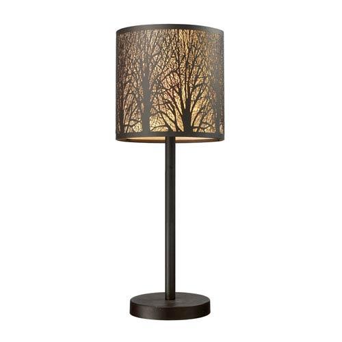 Dimond Woodland Sunrise Aged Bronze One Light Table Lamp