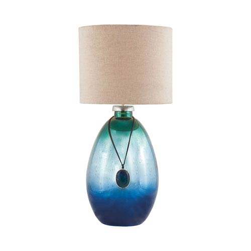 Dimond Kingfisher Pacific Blue Mercury One Light Table Lamp 8468 087