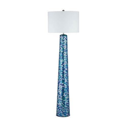 Aphrodisia Turquoise Mosaic One-Light Floor Lamp
