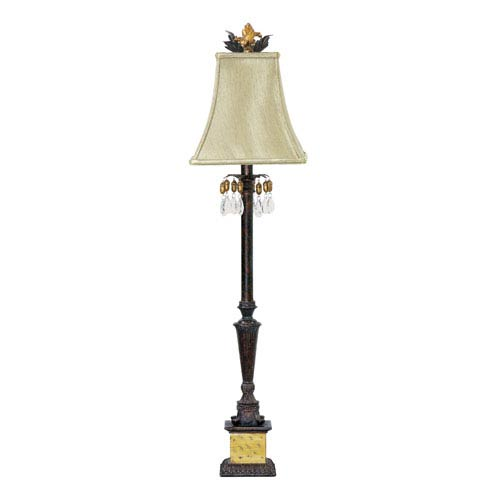 Acorn Drop Black and Era Gold One Light Table Lamp