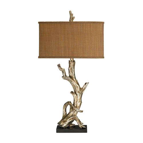 Driftwood Silver Leaf One Light Table Lamp