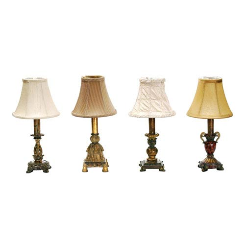Library Composite One Light Table Lamp, Set of Four