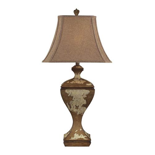 Normandie Hill Genesse Distressed Wood One Light Table Lamp