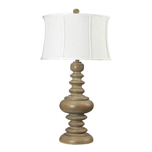 Dimond Moniac Bleached Wood One Light Table Lamp