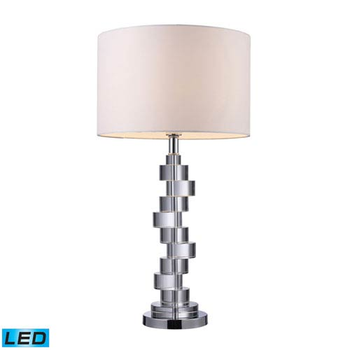 Dimond Armagh Clear Crystal and Chrome One Light LED Table Lamp