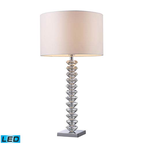 Modena Clear Crystal One Light LED Table Lamp