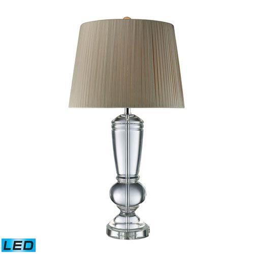 Castlebridge Clear Crystal One Light LED Table Lamp