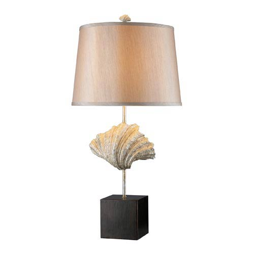 Trendsitions Edgewater Oyster Shell and Dark Bronze One-Light Table Lamp