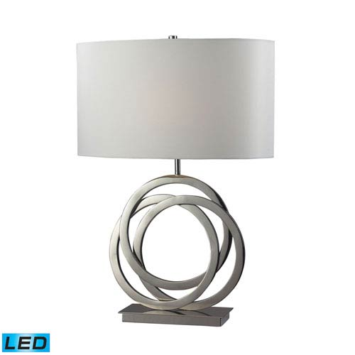 Dimond Trinity Polished Nickel One Light LED Table Lamp