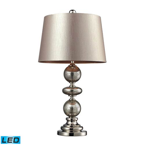 Dimond Hollis Antique Mercury Glass and Polished Nickel One Light LED Table Lamp