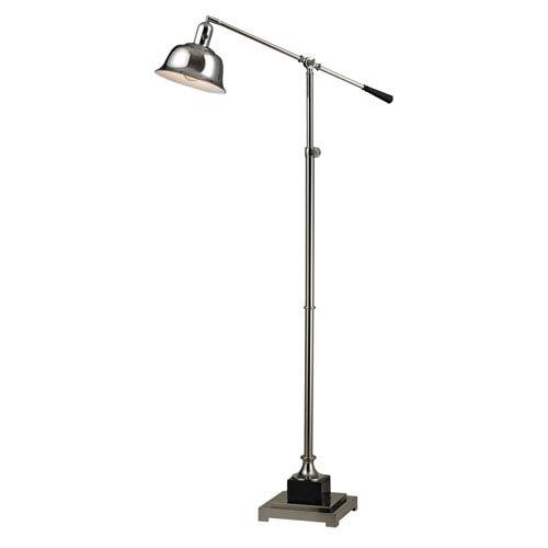 Dimond Freemanburg Polished Nickel and Black One Light Floor Lamp