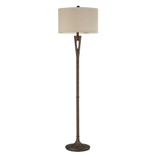 Martcliff Burnished Bronze LED Floor Lamp
