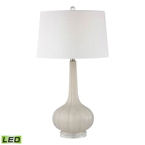 Abbey Lane Off White One Light LED Table Lamp