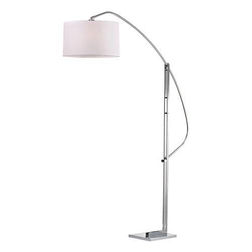 Assissi Polished Nickel One Light Floor Lamp