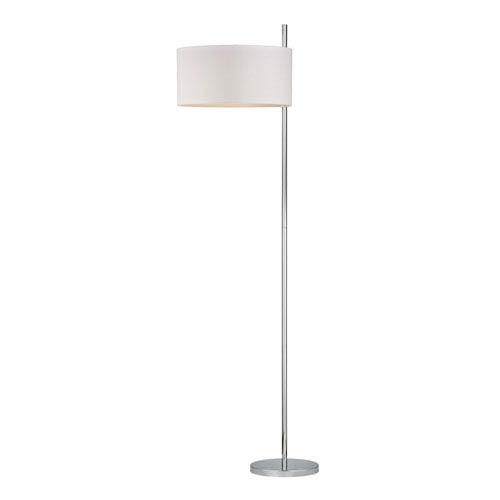 Attwood Polished Nickel One Light Floor Lamp