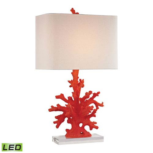Red Coral 28-Inch One Light LED Table Lamp