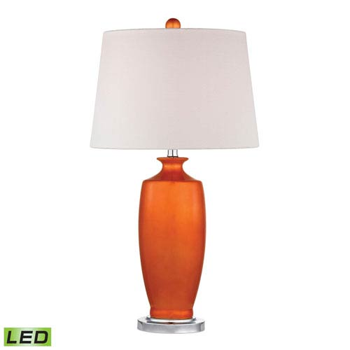 Dimond Halisham Tangerine Orangeand Polished Nickel One Light LED Table Lamp