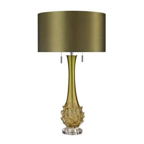 Vignola Green 28-Inch LED Table Lamp with Green Shade