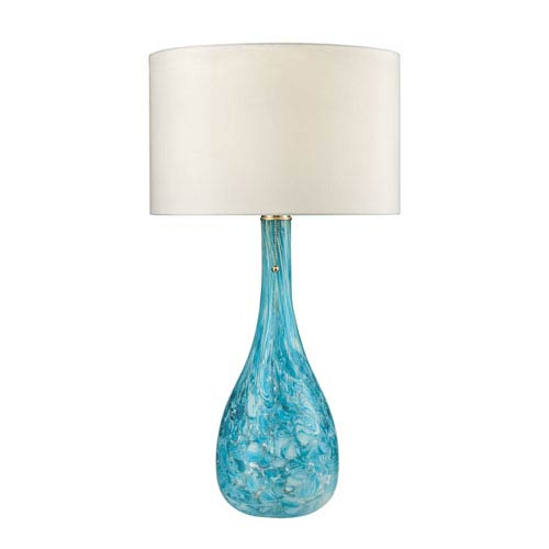 Mediterranean Seafoam Green LED Table Lamp