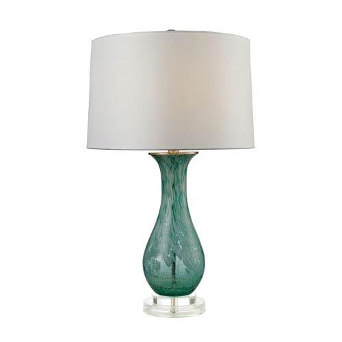 Aqua Swirl Aqua Swirl One-Light Table Lamp